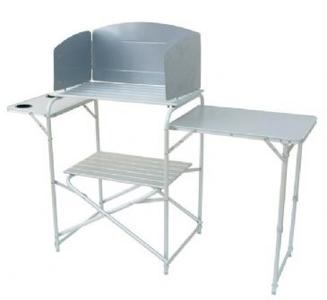 ROYAL Aluminium Kitchen Camping Stand with Windshield